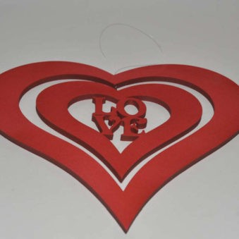 Heart hanging foam L