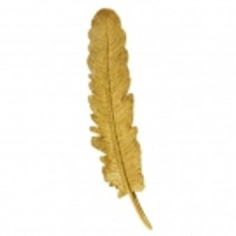 Feather hanging gold